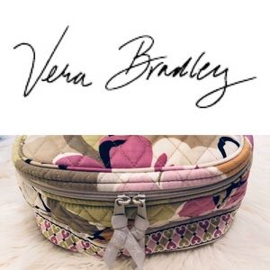 Vera Bradley Oval Cosmetics Travel Case